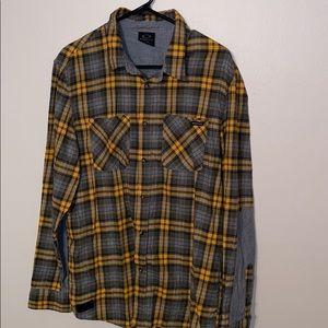 Men's Oakley Flannel Plaid Shirt Sz Large